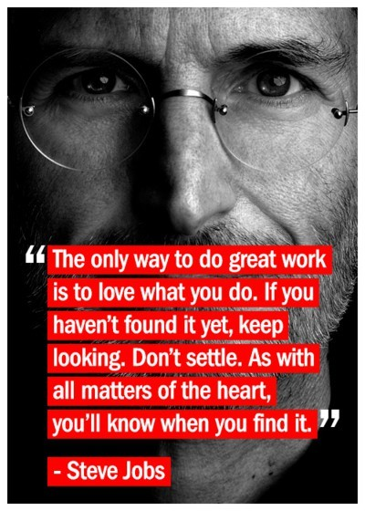 "grentrynation:  ""If you love what you do, you'll never work a day in your life."" There's a difference between having a job and having a career. A job is a stepping stone to get to your dreams. A career is when you're living your dreams. It's NEVER too late to pursue your dreams."