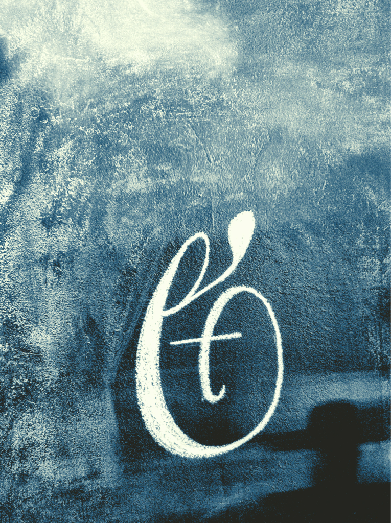 Ampersand on my magnetic chalk board wall.