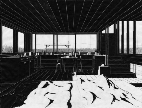 Fantastic architecture drawings by Denis Andernach