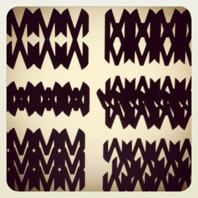 Patterns. M. #patterns #handminprogress #blackandwhite #Illustrator #IC (Taken with instagram)