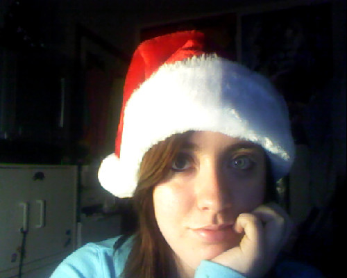 Everyone's photoshopping santa hats onto their heads. I own one.