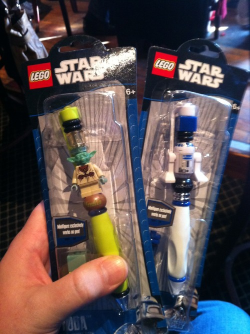 Oh yeah - the star wars pens are mine! (White Elephant) December 6th from San Antonio, TX