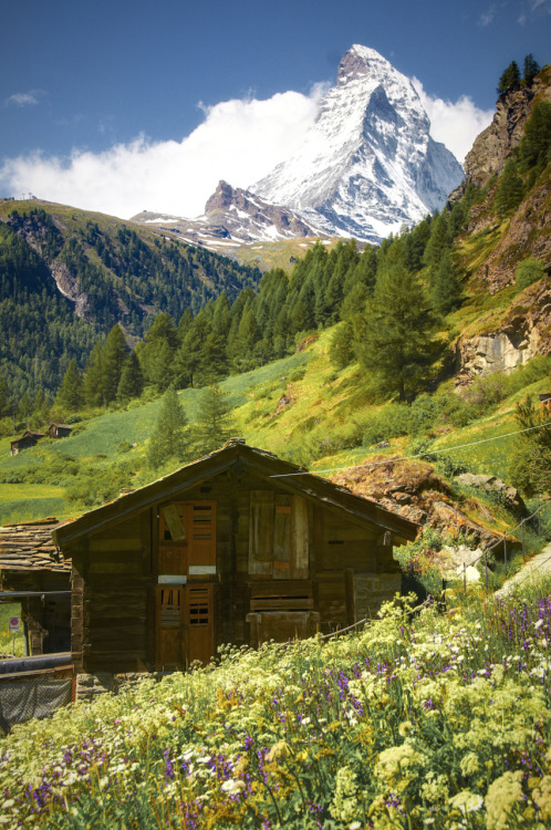 "pictoryblog:  When I arrived in Zermatt, Switzerland, I was completely stunned and smitten by the Matterhorn and its sheer Alpine magnificence. — By Ayush Bhandari (from ""Open Theme"") Submit now to Pictory's Open Themes"