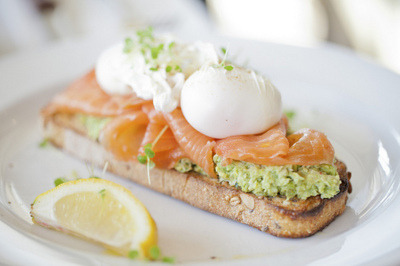 delectableeats:   Avocado, Smoked Salmon and Boiled Eggs on Crispy Bread