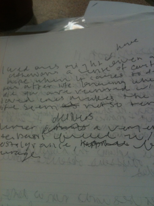 My handwriting has gotten increasingly worse over the years…