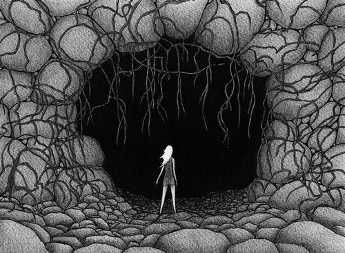 "Sophia CAVE I drew this with pen and ink and graphite pencil on Arches hotpress cotton rag paper, measuring 8""x10"" (20cm x 25cm)."