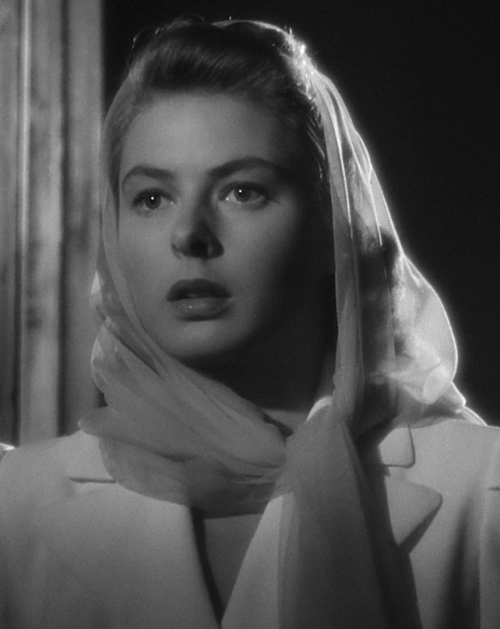 Ingrid Bergman in Casablanca (1942, dir. Michael Curtiz)