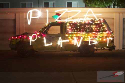 (photo by:theroadtopixar) The real life Pizza Planet truck!