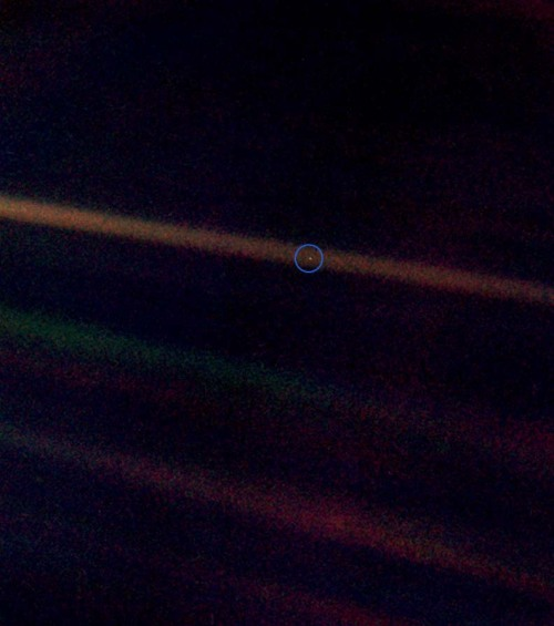 """Look again at that dot. That's here. That's home. That's us. On it everyone you love, everyone you know, everyone you ever heard of, every human being who ever was, lived out their lives."""