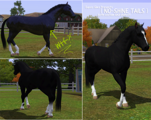 thevintagesim: No, your eyes aren't deceiving you. Finally, horses with NO shine. {Get your fix here} AND REBLOG TO SPREAD THE WORD PLEASE. NOBODY WANTS BLUE HORSES D: