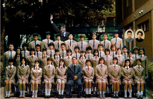Late for the class photo in Battle Royale