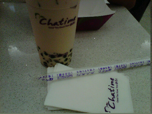 "Good tea, good time  Curiousity struck me and hubby last night to try Chatime's milk tea!  And our verdict - 'twas a good tea! Indeed true to their tagline ""good tea, good time"". Will definitely come back to try other varieties of their milk tea."