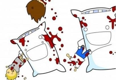 nickthejam:  Pillow fights in a parallel universe..