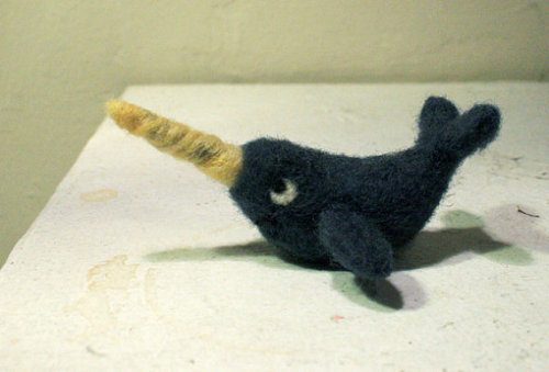 terriblefantastic:  Needle Felted Narwhal  <3
