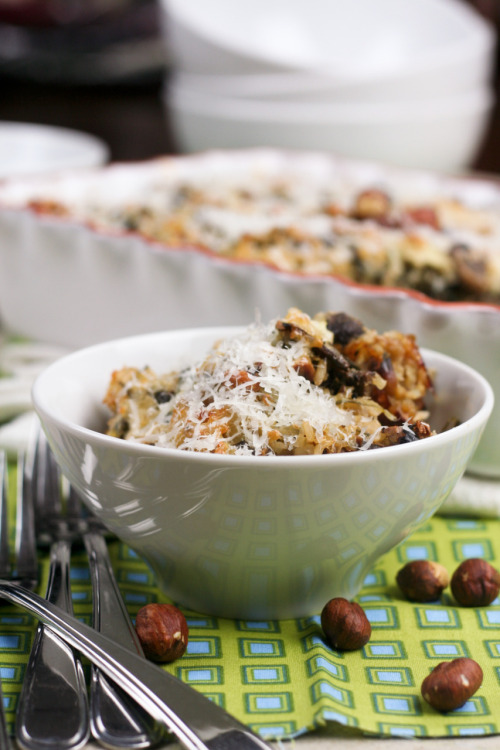 Mushroom Spinach and Brown Rice Casserole  With so many flavors and textures going on, this is one seriously tasty Brown Rice Casserole. Bet you're gonna want to have it over and over again.