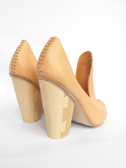 From Chloe Stanyon from Cordwainers, Graduate collections 2011, we see sculptured and constructed wooden heels as an emerging trend in footwear. Read more about other noteable Cordwainer graduates on WGSN's emerging talent footwear trend analysis.