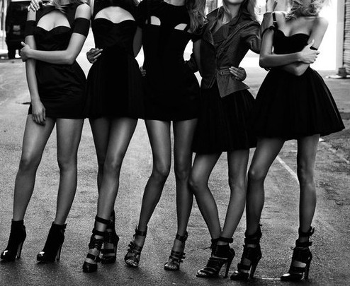 """Little Black Dress Bachelorette Party"" Love!"