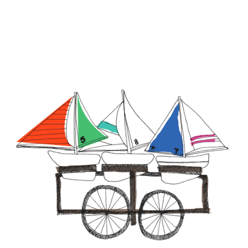 Toy Boat Cart Illustration, 2010.