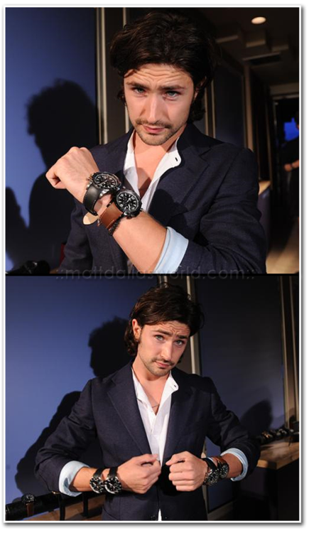 June 16, 2011: Modeling some of the Joseph Abboud watch collection at the launch party with Esquire Magazine at the Sunset Tower Hotel, Los Angeles. MDW main site TwitterFacebook PageYouTube