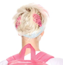 Skeleton Hand Hair Slides now in PINK. get em before they are GONE AGAIN!