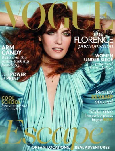 Vogue UK January 2012 issue. A lovely Florence Welch.