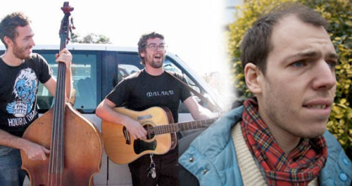 "Andrew Jackson Jihad and Jeffrey Lewis Join Tallahassee Turns Ten We are extremely lucky to get to contribute to Tallahassee Turns Ten, a covers album made in tribute to the first Mountain Goats album I (Sean) ever heard. I remember it like it was yesterday. Some time in 2005, my girlfriend told me that she had heard a band that reminded her of a smarter, better version of my band. This band was the Mountain Goats. We went to Zia Records together and I found Tallahassee. Mountain Goats fever struck our group of friends and has been plaguing us ever since. Ben and I have gotten to see the Mountain Goats 4 times, once accompanied by the amazing Peter Hughes, once with Franklin Bruno on piano, and twice solo at the Harvest of Hope and Plan-it-X fest respectively. The latter occasion was amazing, JD had such a grip on the audience (600 people!) that he unplugged his guitar and finished the set without amplification. I'm sure it can go without saying that The Mountain Goats have inspired us. We have learned many things from this music, and have become a better band by taking note of how John Darnielle conducts himself. Good style. Always classy. Jovial yet firm. The guy on the right half of the picture is Jeffrey Lewis, another tremendous songwriter. I have had the pleasure of seeing him play twice now, and I believe in him. He is one of the good guys, as my grandfather would say. thanks for reading! read below to find out more about this awesome project. :-) tallahasseeturnsten:  Andrew Jackson Jihad and Jeffrey Lewis Join Tallahassee Turns Ten Phoenix band Andrew Jackson Jihad are known nationwide for their energetic folk-punk and their DIY work ethic. Jeffrey Lewis has been praised by Will Oldham, Jens Lekman, and Jarvis Cocker for his songwriting, especially his literate, often absurd lyrics. In 2008, Lewis illustrated a ""comic book press kit"" for The Mountain Goats' album Heretic Pride. Both are now a part of Tallahassee Turns Ten. Jeffrey Lewis will be covering ""See America Right"" and Andrew Jackson Jihad will tackle ""Alpha Rats Nest"".  Anyone else excited about this? If you haven't already, you can back the kickstarter here. Just $5 will get you a digital download of the whole thing."