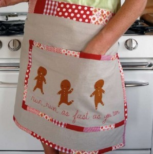 (via Giving Handmade: Gingerbread Men Embroidered Apron « Lark Crafts Lark Crafts)