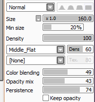 houseofgoose:  Hey SAI users Get your acrylic brush and give it these settings Just Just trust me