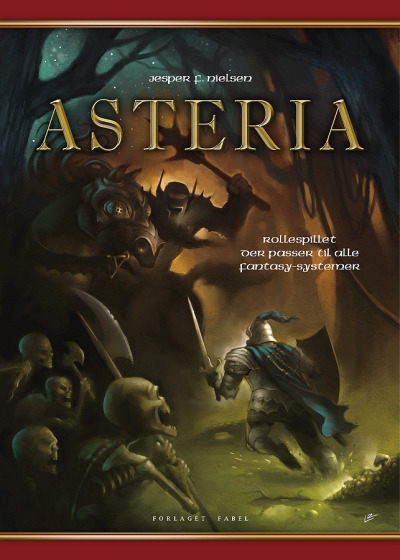 Something for all you roleplaying-fans out there. The brand-new book ASTERIA by Jesper F. Nielsen will be out in danish stores this december - cover by moi. Publisher: Forlaget Fabel