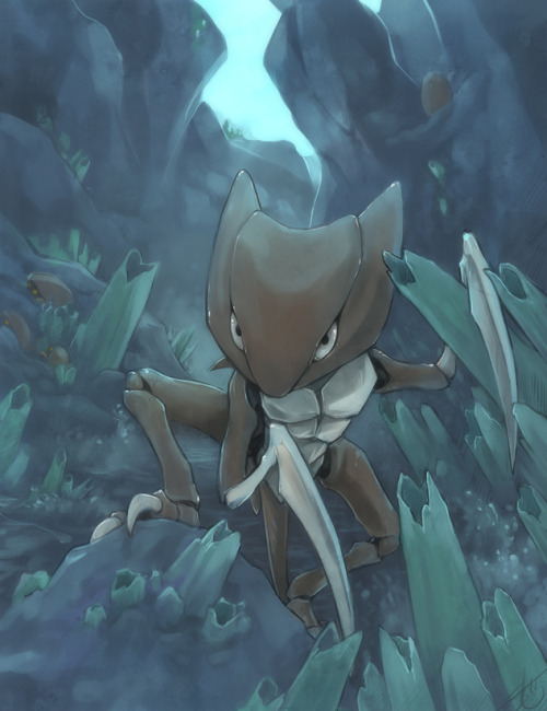 skepticarcher:  Day 6 - Favorite Rock type : Kabutops
