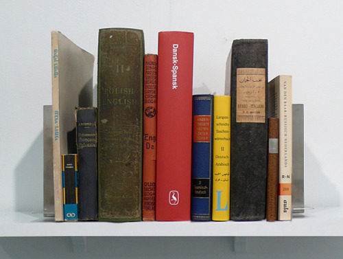 Noa Giniger Dictance/ Dictionaries, metal bookends / 2004-2011 (ongoing)