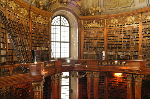 Austrian National Library in Vienna. I'll bet the old book smell is awesome in there.