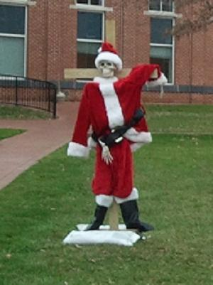 'Crucified Santa' display gone for now