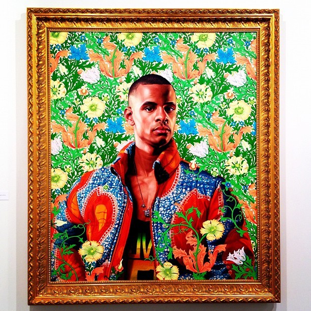 Some left overs from #artbasel a Kehinde Wiley painting