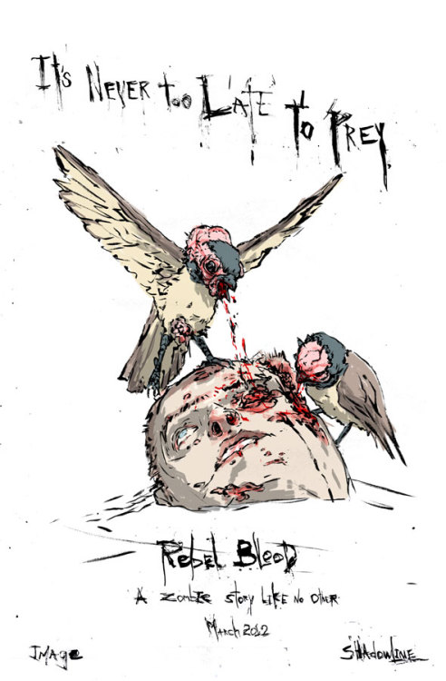 "Rebel Blood is Canadian artist Riley Rossmo's virgin effort as a writer. He says here that it's inspired by ""Creepy, the Twilight Zone, I Am Legend and the Omega man"" - there's not much information out about it anywhere yet (or not that I can find at least) but it's worth keeping an eye on for the art alone, currently on display in Green Wake."