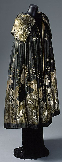 Evening Cape, House of Worth 1925, French, Made of lame LACMA