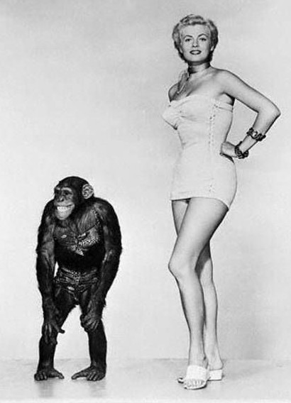 Anita Ekberg and friend
