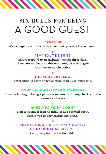 "katespadeny:  best guest, bar none read more in ""the guide to living colorfully""  Advice from Kate Spade NY."