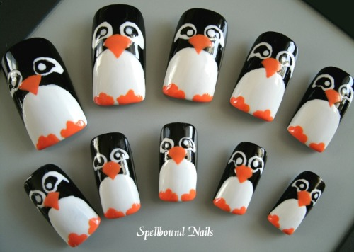 Penguin Nail Art by ~Animalluver1985 Buy these nails!