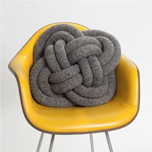 Not Knot Pillow + #design + #chair