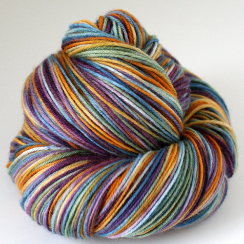 tejinastoybox:  fairy tale sock yarn by Spun Right Round on Flickr.
