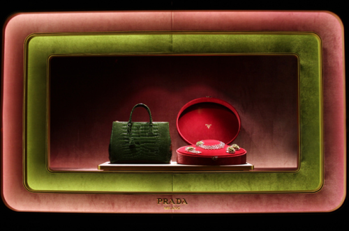 I can't wait any longer, a preview shot of tomorrow's epic Prada Holiday Window post. IT'S SO GOOD. In the meantime, judge lesser windows freely.