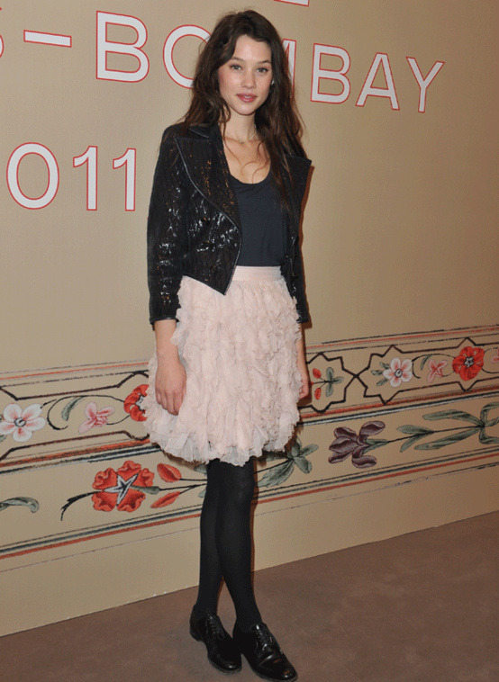 Astrid Berges Frisbey at the Paris chanel Bombay show