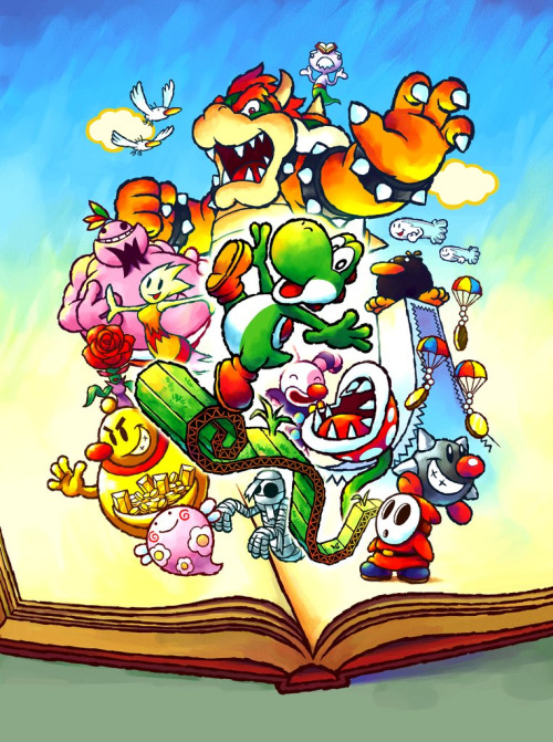 gameandgraphics:  Yoshi's Universal Gravitation (known as Yoshi Topsy-Turvy in North America) original art. (Game Boy Advance, 2004).
