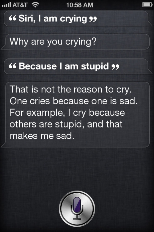 stacefaceyo:  I think Siri is smarter than half the human population.  bruh this is a big bang theory quote