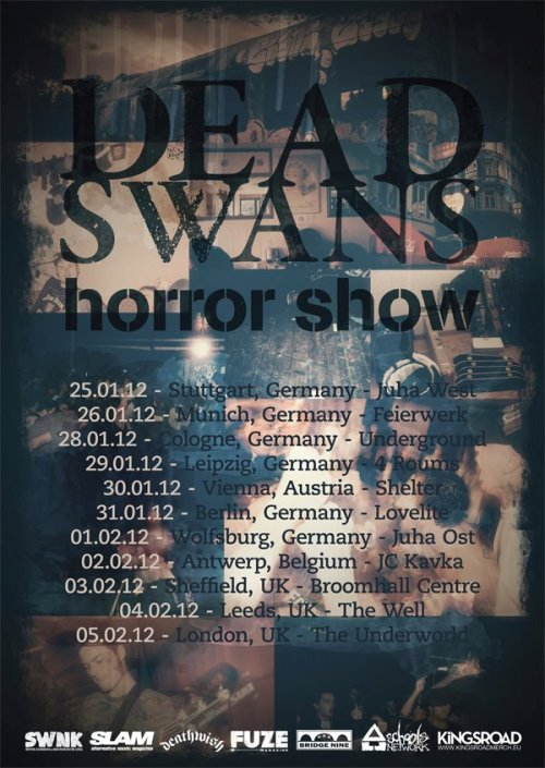 DEAD SWANS touring Europe this winter with HORROR SHOW