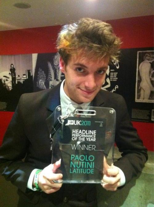 For those of you that missed it, Paolo won Best Headliner at the Latitude thanks to fan voting!
