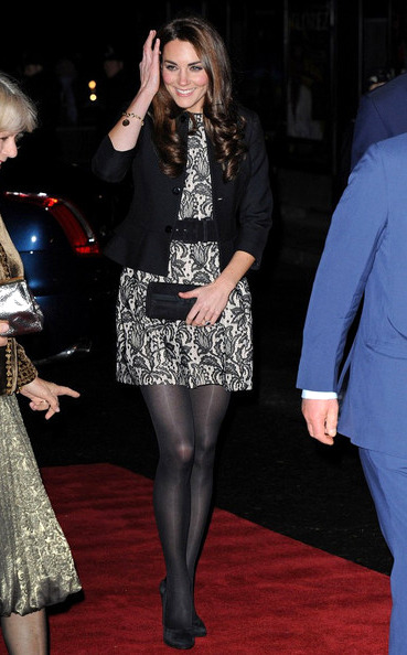 kate middleton wearing a Zara lace dress and Ralph Lauren jacket. love it!