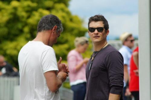 The Hobbit Cast arrive in Nelson, New Zealand: Orlando Bloom, Luke Evans, Richard Armitage, James Nesbitt, Aiden Turner, Adam Brown
