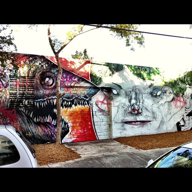 Completed this weekend in Wynwood arts district Miami for Art Basel Week.  Street artists Shark Toof and Anthony Lister… totally awesome.  #streetart #graffiti #miami #artbasel #art #warholian #mural #wynwood #lister #anthonylister #sharktoof (Taken with instagram)